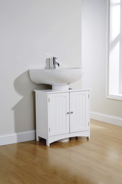 Modern Colonial Bathrooms: Brand New! Colonial Style White Bathroom Undersink Cabinet