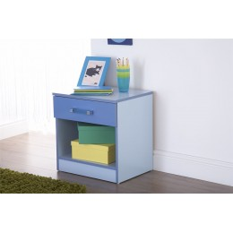 Ottawa 2 Tones Bedside Table Cabinet Blue