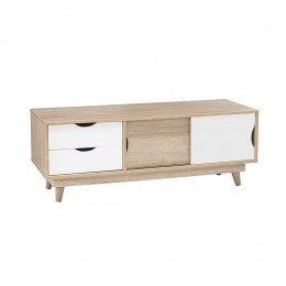 Scandi Oak White Compact TV Unit Living Room