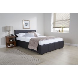4ft6 Double Side Lift Ottoman Bed 135cm Bedframe Black