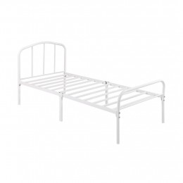 Milton Traditional White Single Bed