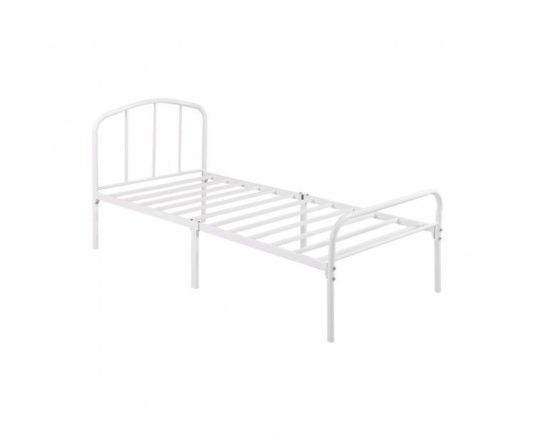 Milton Traditional White Single Bed