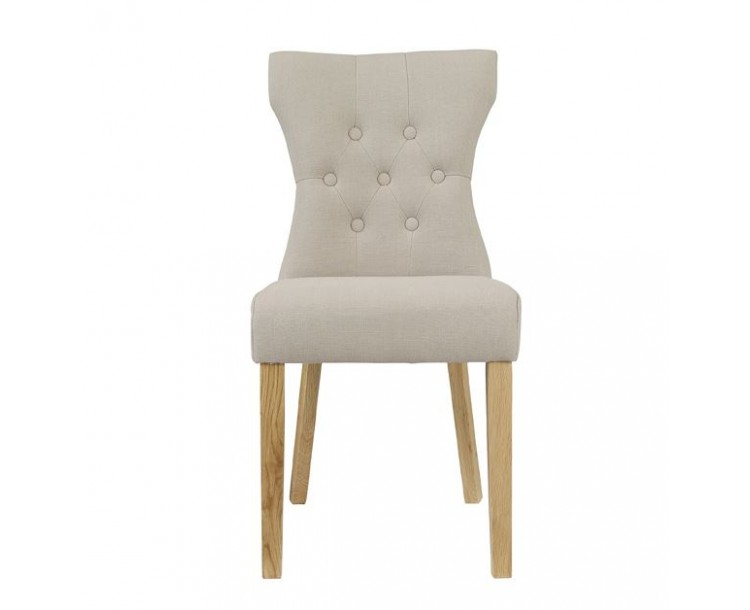 Naples Dining Chair Beige Pack of 2