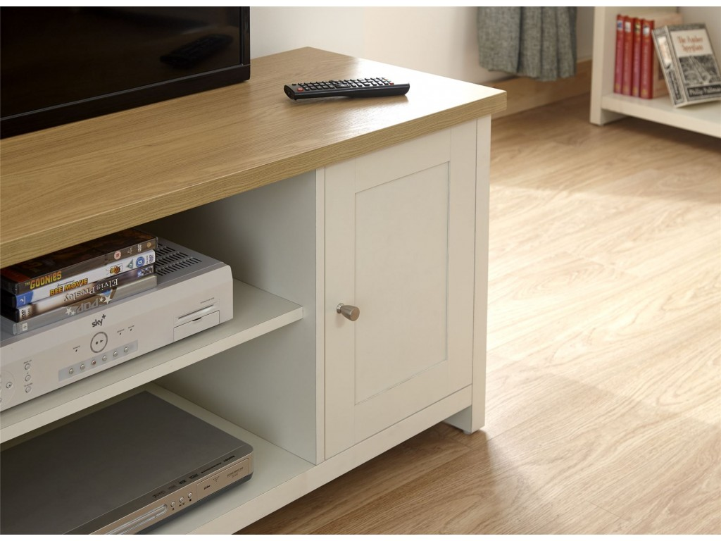 cream lancaster living room 2 door 2 drawer large tv unit