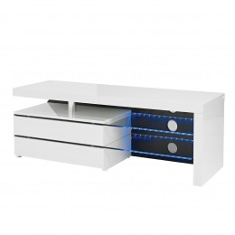 Contemporary High Gloss White Milano TV Unit