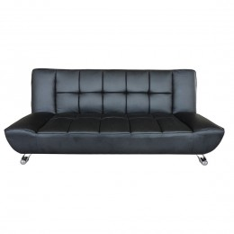 Vogue Sofa Bed Black Faux Leather
