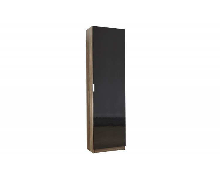 Modern Design High Gloss 150 cm Shoe Cabinet in Walnut/Black