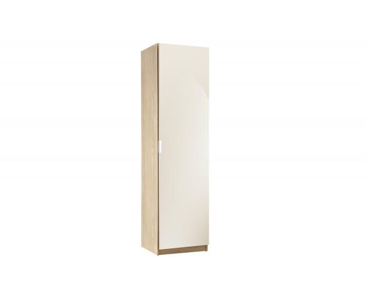 Modern Design High Gloss 150 cm Shoe Cabinet in Cream/Oak