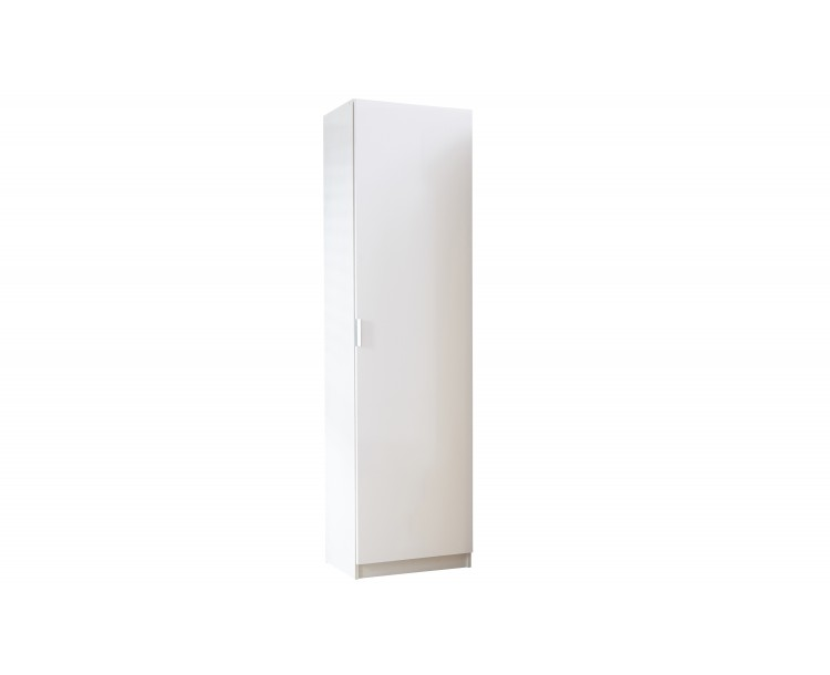Modern Design High Gloss 150 cm Shoe Cabinet in White/White