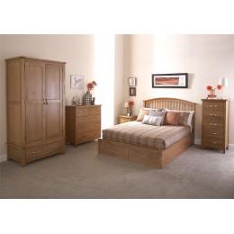 Madrid 5ft Kingsize Wooden Ottoman Bed 150cm Bedframe Oak