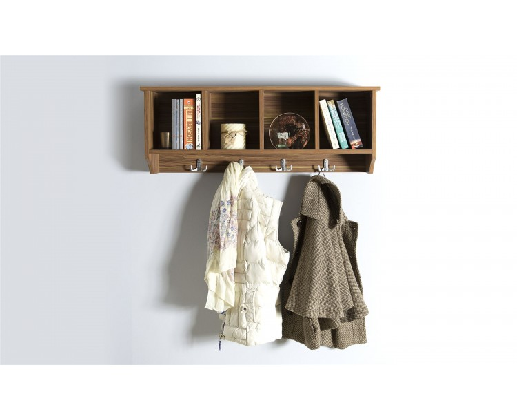 Kempton Hallway Wall Rack Walnut