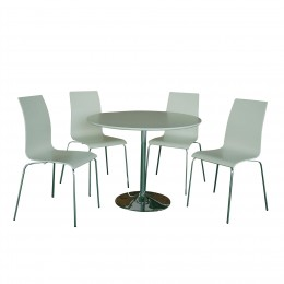 Soho High Gloss White Dining Set