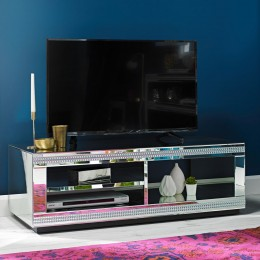 Living Room Biarritz Diamante Trim Mirrored TV Unit