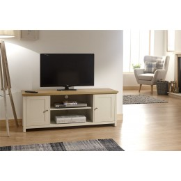 Lancaster Living Room Large TV Cabinet Cream