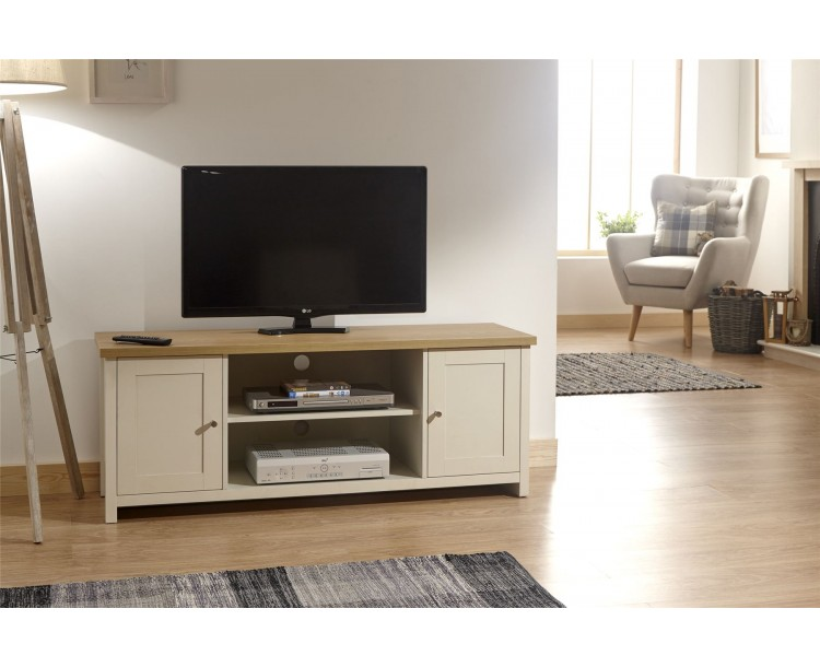 Lancaster Living Room Large TV Cabinet Cream