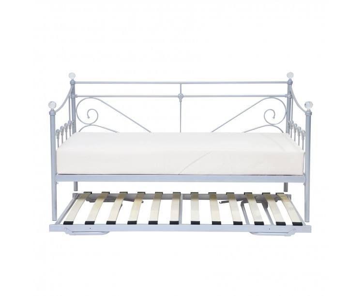 Metalic Silver Sienna Day Bed