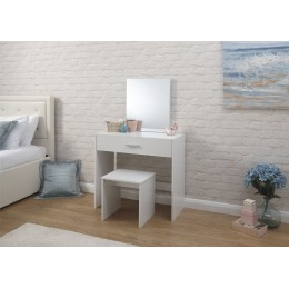 Julia Dresser   Stool Dressing Table White
