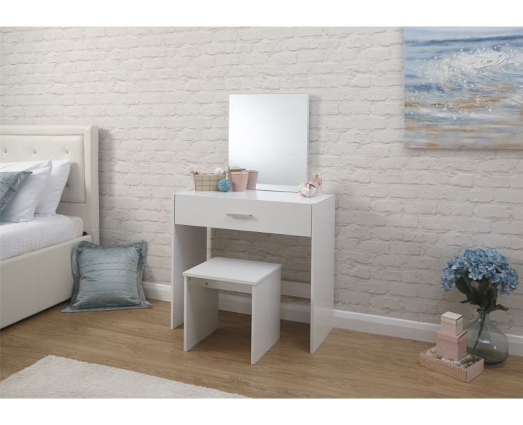 Julia Dresser   Stool Dressing Table White
