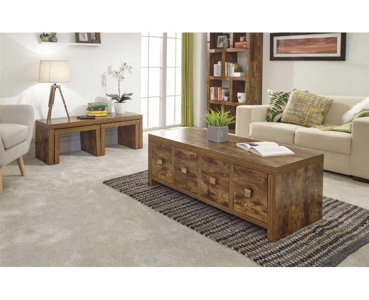 Jakarta Living Room 8 Drawer Coffee Table Cabinet Mango