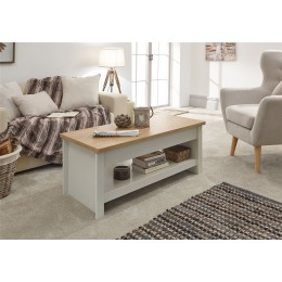 Lancaster Sliding Top Coffee Table Cream