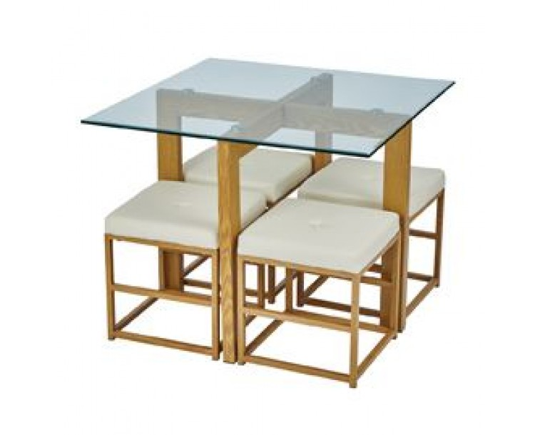 Cube Cream Compact Dining Set