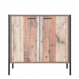 Rustic Oak Effect Hoxton Shoe Cabinet