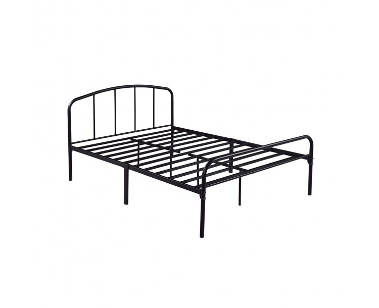 Milton Black Modern 4FT6 Double Bed