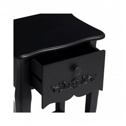 Antoinette 1 Drawer Night Stand Black