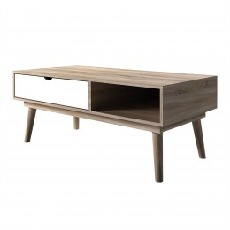 Scandi Oak White Living Room Coffee Table