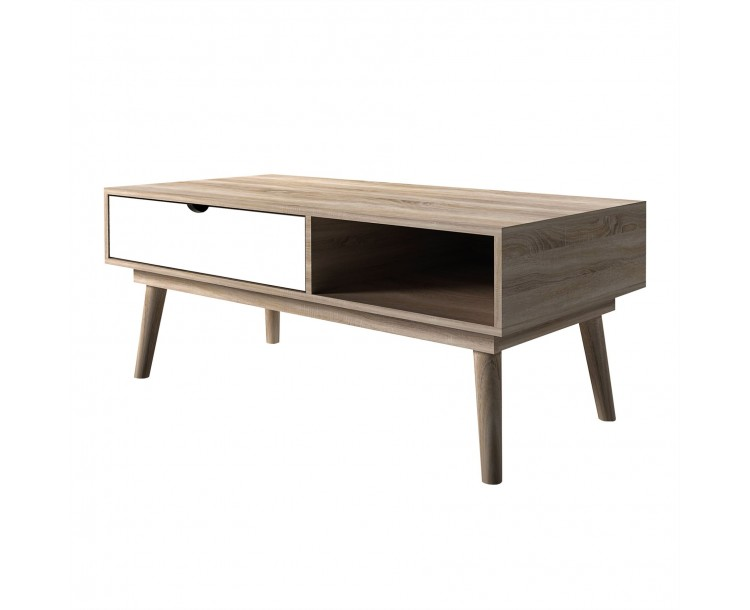 Scandi Oak White Living Room Coffee Table