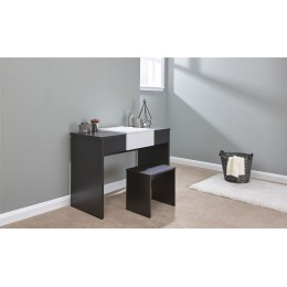 Marlow Dressing Table Set Black   White Top