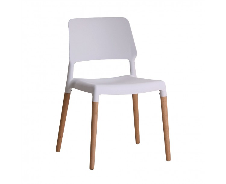 Riva White Compact Chair Whte Pack of 2