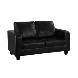Sofa In A Box Black Faux Leather