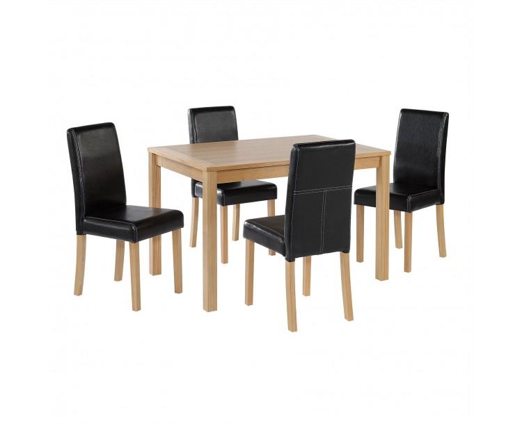 Rectangular Oak Finish Linden Dining Table