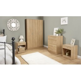 Panama 4 Piece Oak Bedroom Furniture Set Wardrobe Chest of Drawers Bedside