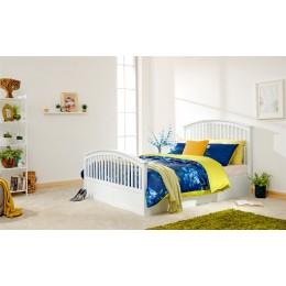 Madrid 5ft Kingsize 150cm Side Opening Ottoman Bed Bedframe White