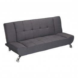 Vogue Grey Upholstered Fabric Sofa Bed