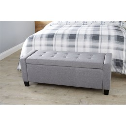 Grey Fabric Verona Ottoman Storage Bench Box