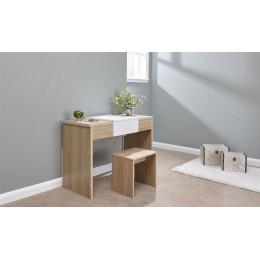 Marlow Dressing Table Set Oak   White Top