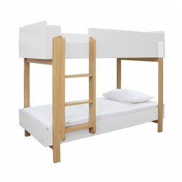 Hero Bunk Bed in White and Oak