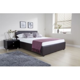 5ft Kingsize Side Lift Ottoman Bed 150cm Bedframe Brown