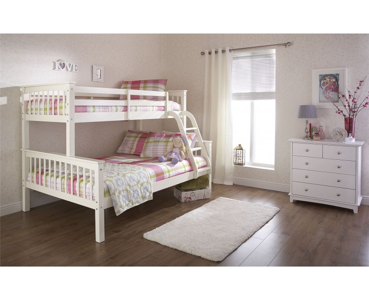 NEW Kids Novaro Trio Bunk Bed White