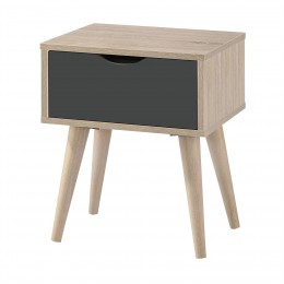 Scandi Oak Matt Foil Finish Lamp Table Grey