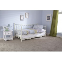 Ivory Memphis 90cm 3ft Day Bed With Trundle Bed Seat