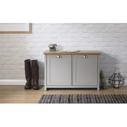 Lancaster Shoe Storage Cabinet Grey