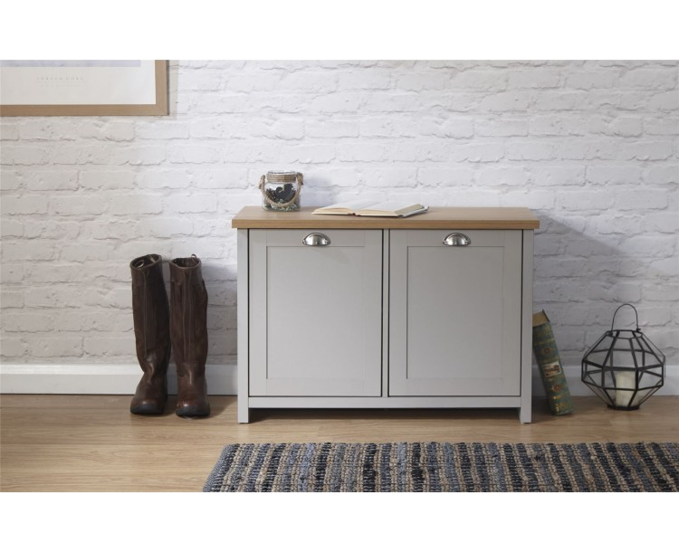 Lancaster Shoe Storage Cabinet Grey