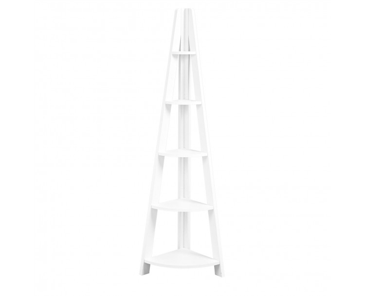 Tiva Corner Ladder Shelving White