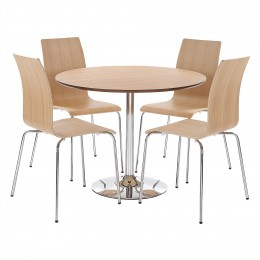 Soho Oak Veneer Compact Dining Set