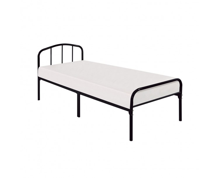 Milton Black Metal 3FT Single Bed