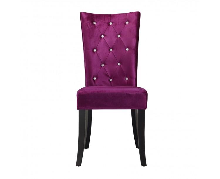 Radiance Dining Chair PUrple Velvet Pack of 2